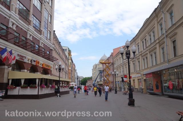 Arbat Street ยามเช้า เงียบสงบสุดๆ